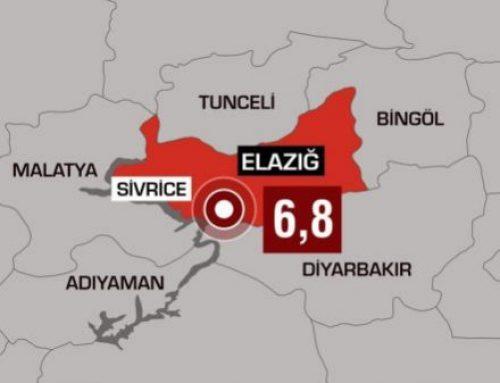 Elazığ'da 6,8  Deprem